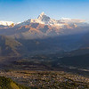 Wide view, Pokhara, Nepal and the Himalaya mountains