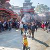 In Durbar Square, Kathmandu