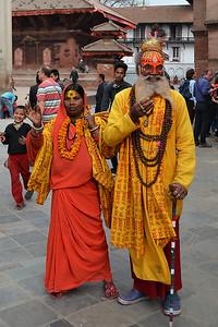 Begging Sadhu, Kathmandu Durbar Square (c) 2012 Karin Markert, kmarkert88@gmail.com, all rights reserved.
