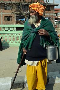 Saddhu Crossing Kathmandu Street (c) 2012 Karin Markert, kmarkert88@gmail.com, all rights reserved.