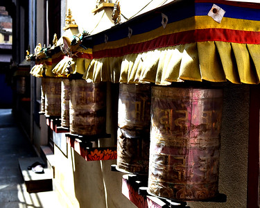 Monastery Prayer Wheels (c) 2012 Karin Markert, kmarkert88@gmail.com, all rights reserved.