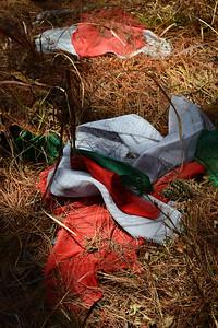 Fallen Buddhist Prayer Flags, Haatiban, sout of Kathmandu, Nepal (c) 2012 Karin Markert, kmarkert88@gmail.com, all rights reserved.