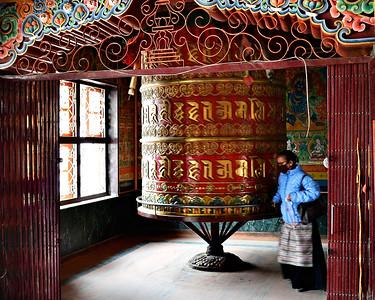 Boudhanath Monastery Prayer Wheel (c) 2012 Karin Markert, kmarkert88@gmail.com, all rights reserved.