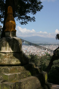 view of Kathmandu from the monkey temple.