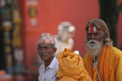 Monks at Durbar Square in Kathmandu. This photo cost money (surprise!)