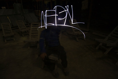 Me having some fun with a LED and a tripod
