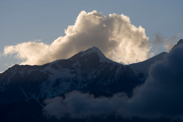 Clouds at sunset over Muktinath