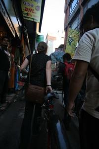 Human traffic jam in Thamel, Kathmandu