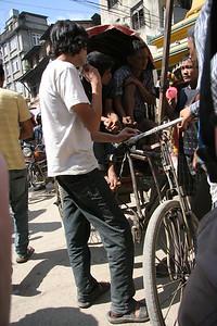 local riksha in Kathmandu