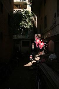 Nepalese flag near New Road, Kathmandu