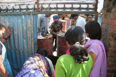 Water distribution station in Thamel, Kathmandu