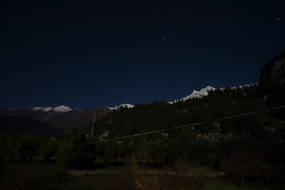 Night in Khobang, view to the south