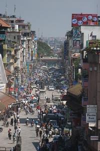 New Road, Kathmandu. No shortage of traffic