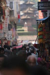 Approaching Durbar Square in Kathmandu