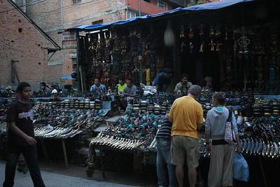 Souvenir stand in Thamel, Kathmandu