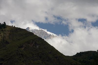 Annapurna peaking near Tatopani