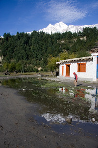 Morning reflections in Khobang