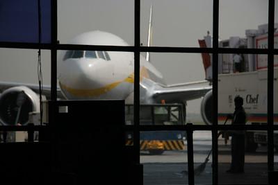 View outside Terminal 1 in Delhi