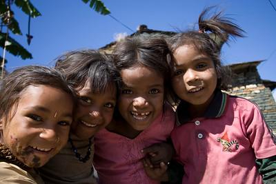 Children enjoying the tourist high season in Ghara