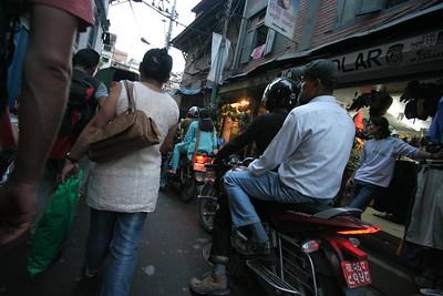 Thamel traffic, Kathmandu