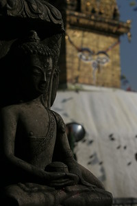 Buddha eyes at the monkey temple