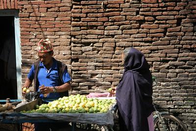 Guava stand in Kathmandu
