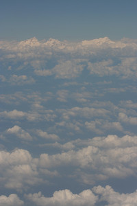 First view of the Himalayas from the plane