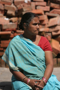 Woman at Durbar Square in Kathmandu