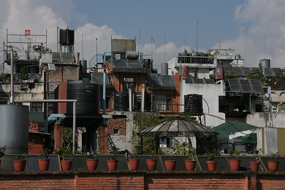 Thamel rooftops. I guess it doesn't get too windy here