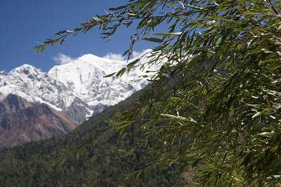 The Annapurna range to the north east of the Kali Gandaki river