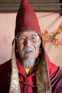 The monk at the monestary above Manang