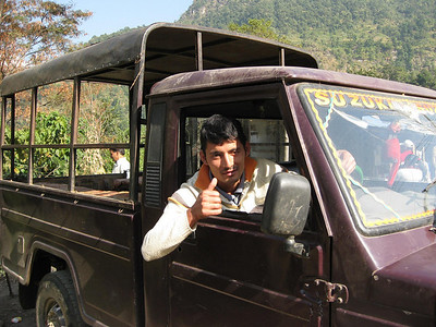 Yes, I can take you to Khudi.: Jump in the back and hang on tight.