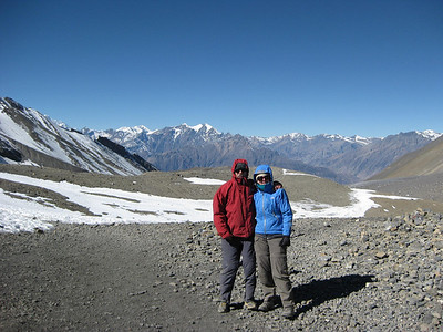 """On the way down from Thorung La pass, """"World's Biggest"""" at 5416 meters, towards Muktinath"""