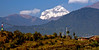 Dhaulagiri (8167m), from near Kaskikot, north west of Pokhare, 1 December 2007   Looking north west to the 7th highest mountain in the world.  Dhaulagiri (= 'White Mountain')  is the most westerly of Nepal's eight 8000m giants, about 450km from Kangchenjunga.  This was my only shot of Dhaulagiri.