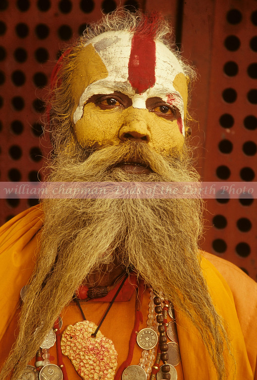 Saddhu of Pashupati during Shiva Ratri festival in Kathmandu asia