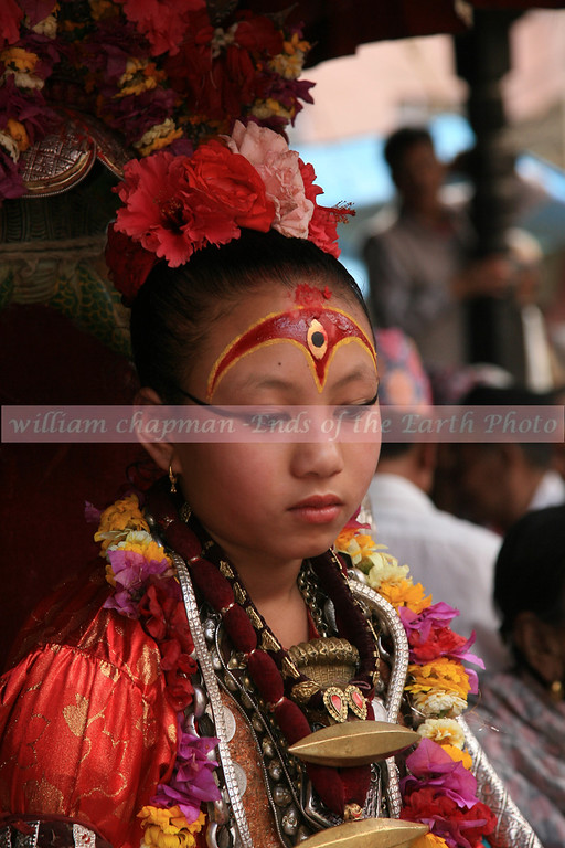 Kumari-2- Living Goddess- in the Patan section of Kathmandu asia