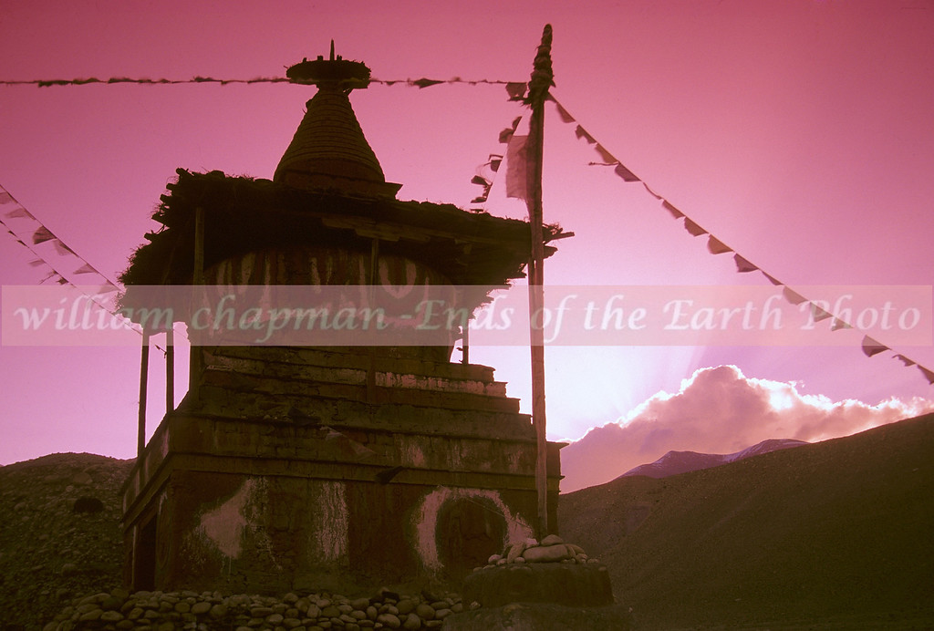 Stupa sunset near Khagbeni asia