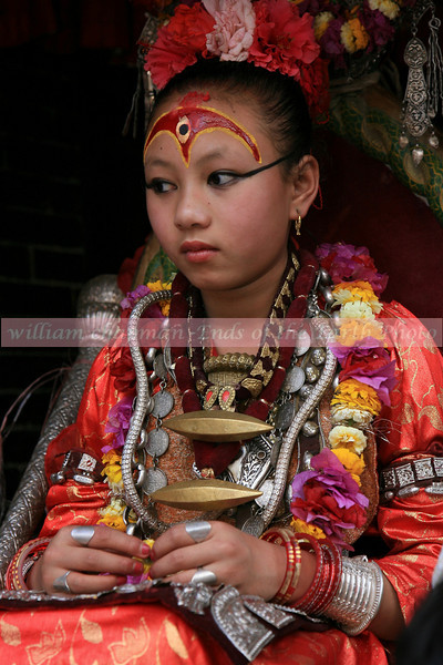 Kumari- A Living Goddess- in the Patan section of Kathmandu asia