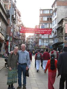 Sheldon & Mitzi the 1st day in Kathmandu.