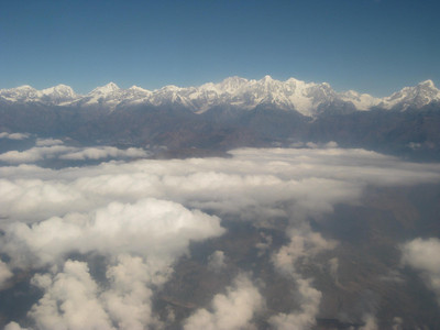 The Himalayas are spectacular from the air