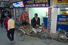 Sreet scene, Kathmandu, Nepal, December 2007 5    A cycle rickshaw waits for a fare.