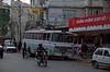 Street scene, Kathmandu, Nepal, December 2007 3    Chinese-built trolley bus.