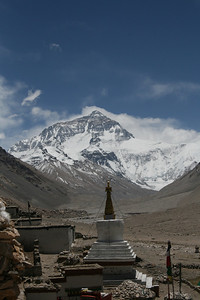 Everest view from Rongbuk Monastery