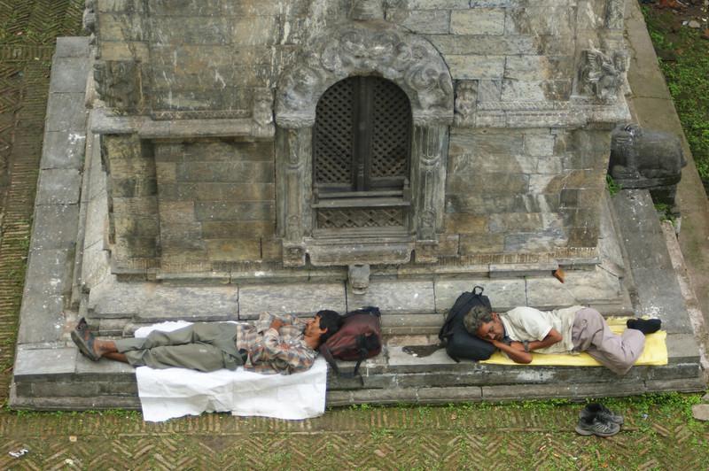 Sleeping travellers - pilgrims? - at Pashupatinath