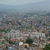 The city - and its circling black kites - from Swayambunath
