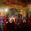 Monks praying in Tengboche Gompa