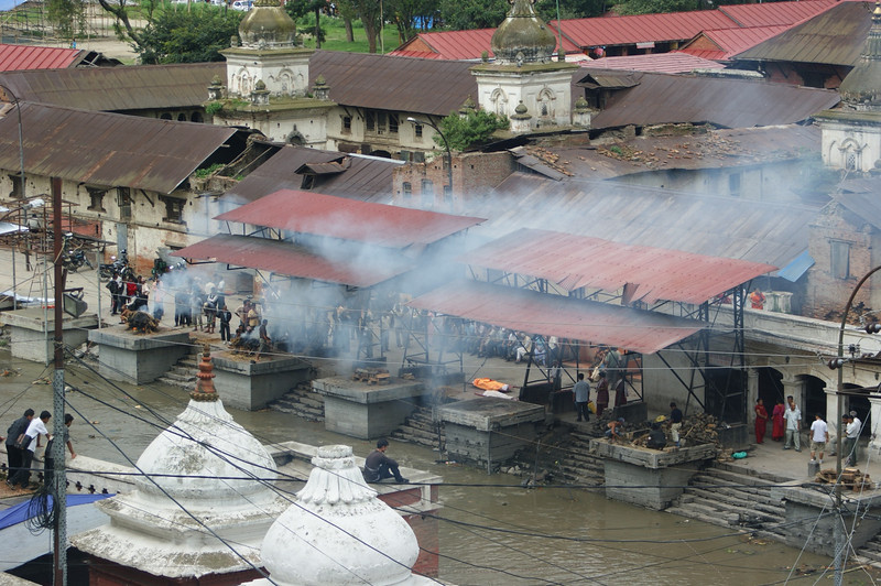 Cremations on the ghats at Pashupatinath