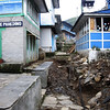 Pangboche main street - water supply installation works made this a more-than-usually-uneven path. When we came back through a week later, much bigger pipes were being laid alongside, presumably drainage or sewerage.  Constant building and improvement seems to be the theme of the Khumbu valley, said to be now the richest area in rural Nepal due to the 10s of thousands of tourists who trek through every year.