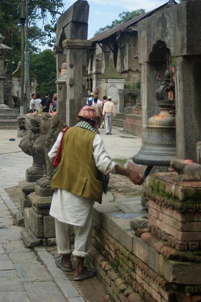 Worshippers at Pashupatinath