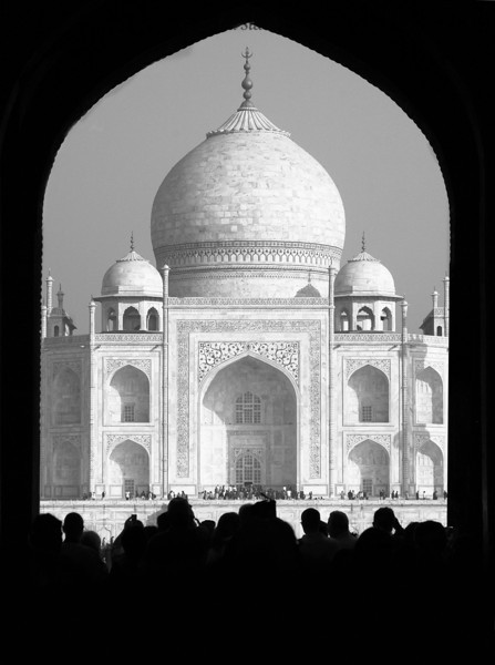 Taj arch people